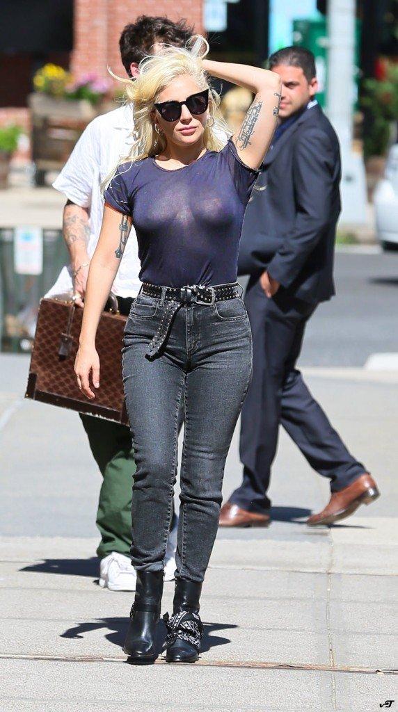 Lady Gaga Braless 14 New Photos  TheFappening