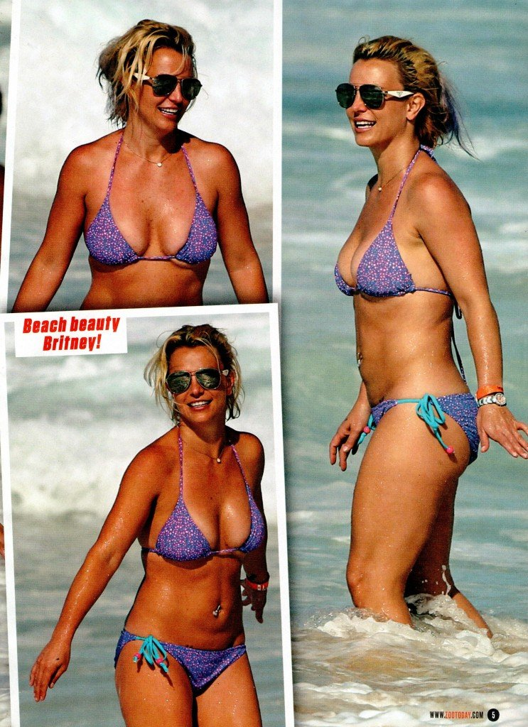 Britney Spears in a Bikini (2 Photos)