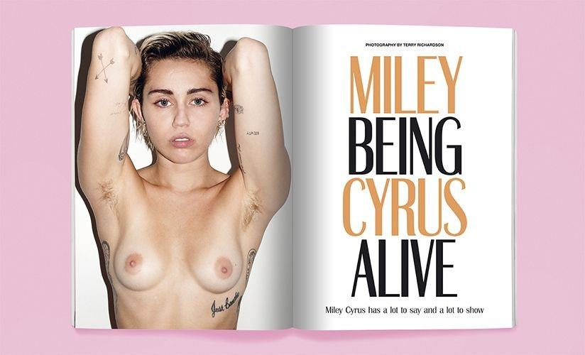 Miley Cyrus Full Frontal Naked (12 Photos)