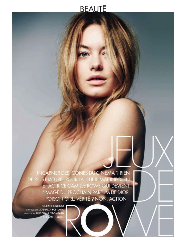 Camille Rowe Topless (1 New Photo)