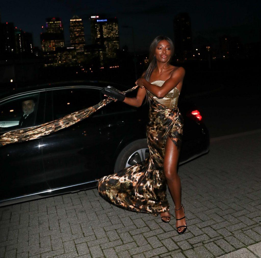 AJ Odudu Flashes Underwear in London (11 Photos)