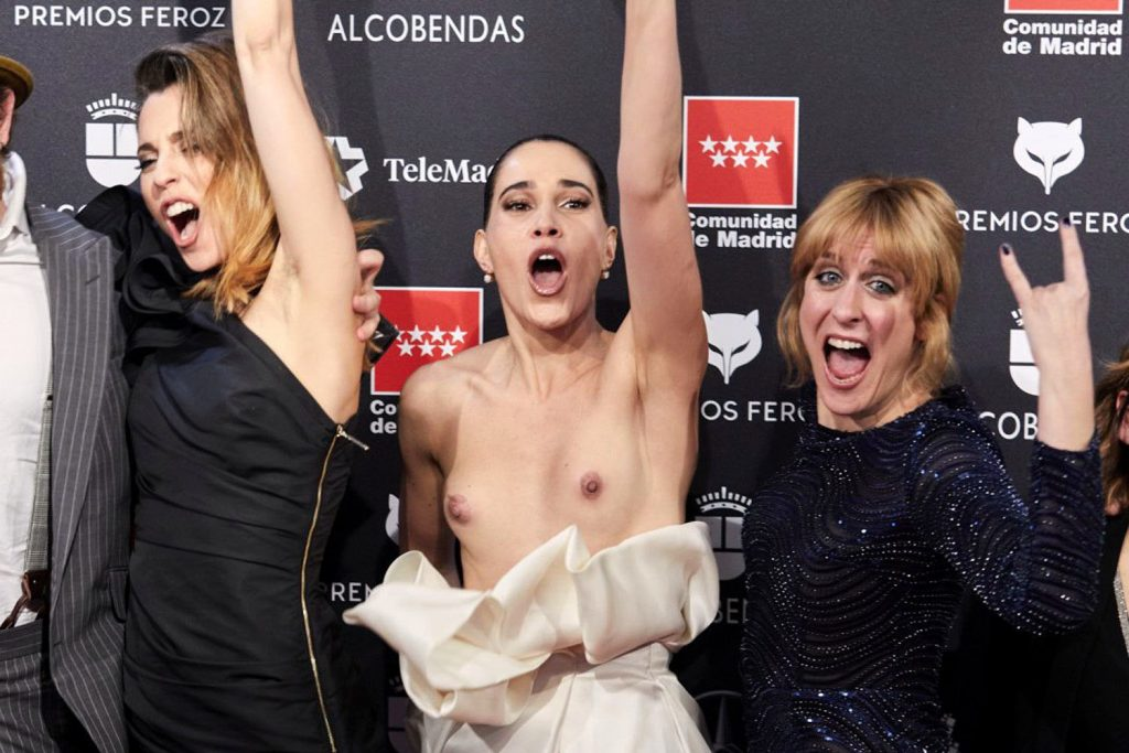 Celia Freijeiro Goes Nude on the Red Carpet (3 Photos)
