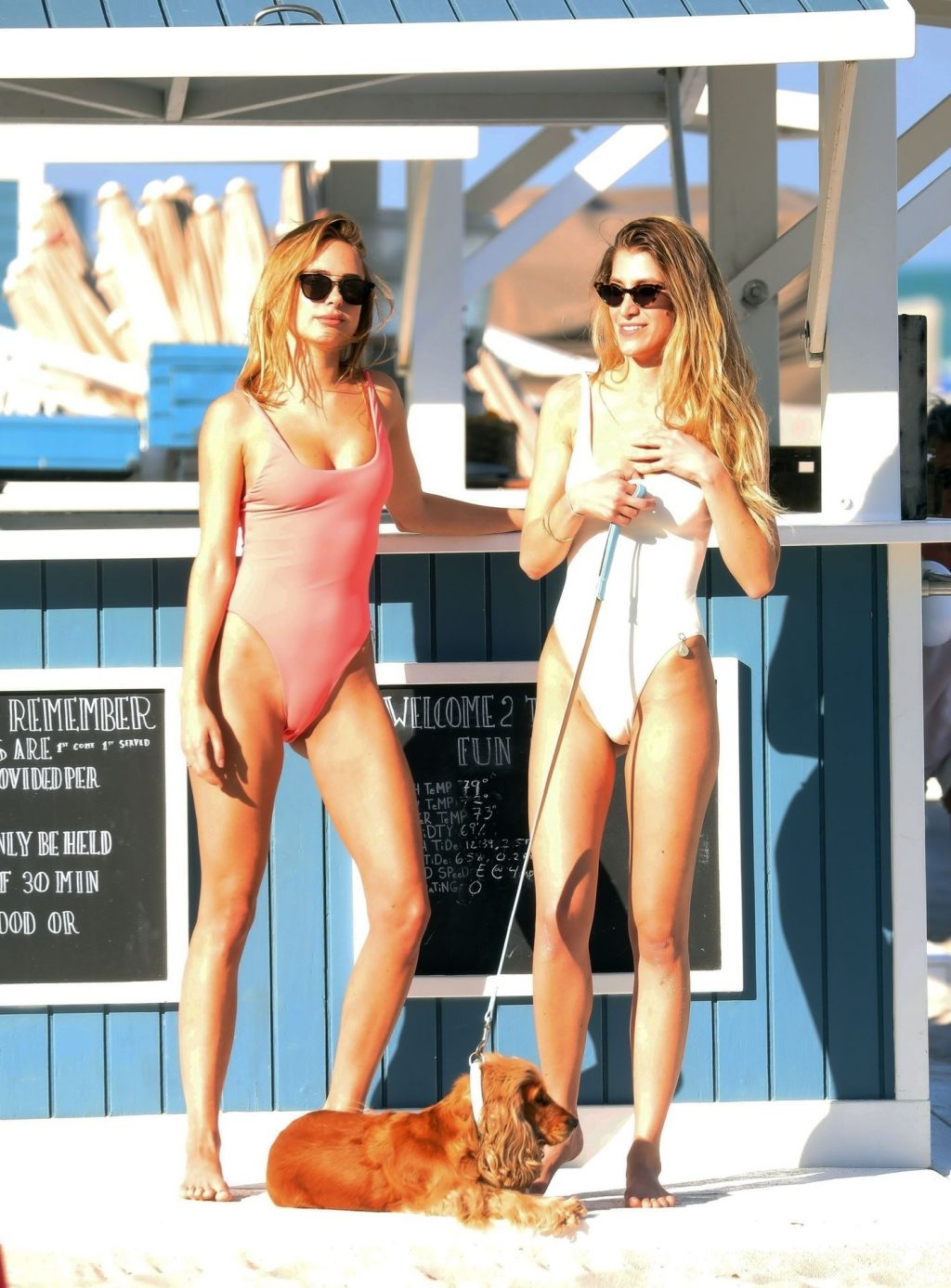 Kimberley Garner Poses in Sexy Ocean Rescue Themed Photoshoot (34 Photos + Video)