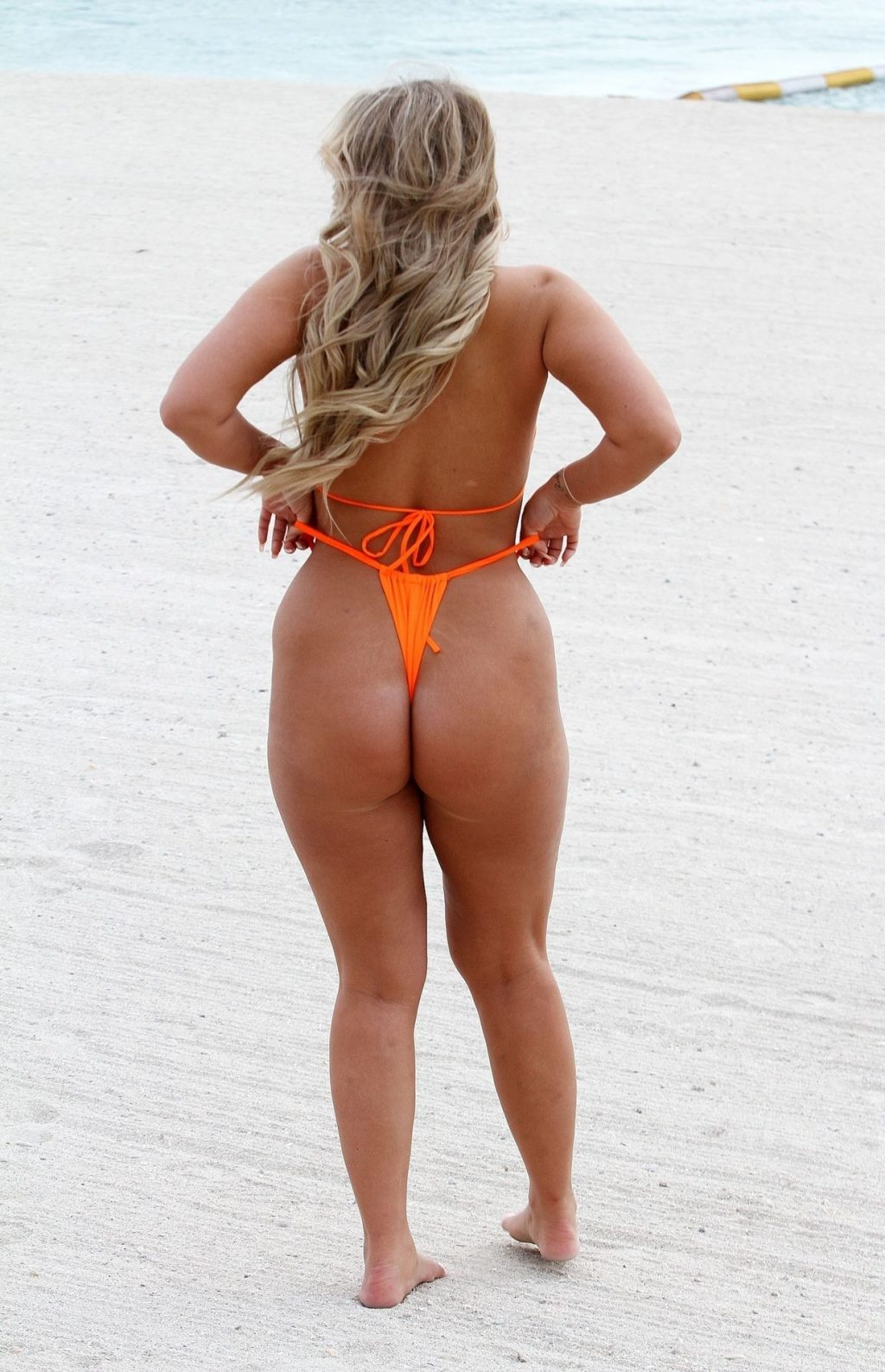 Bethan Kershaw Pictured Wearing a Bright Orange Bikini (12 Photos)