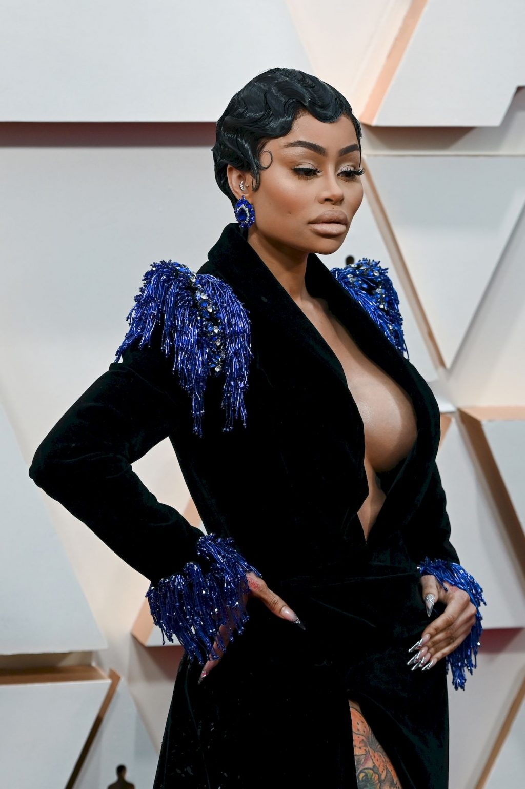 Blac Chyna Shows Her Cleavage at the 92nd Academy Awards (9 Photos)