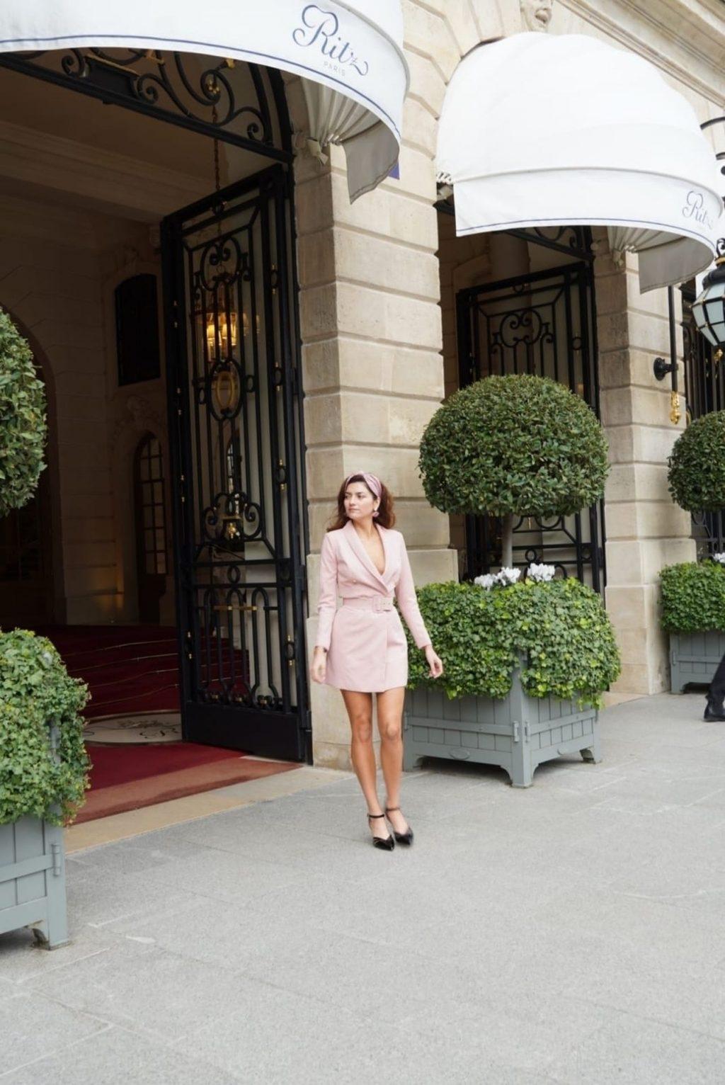 Blanca Blanco Poses in Paris During PFW (24 Photos)