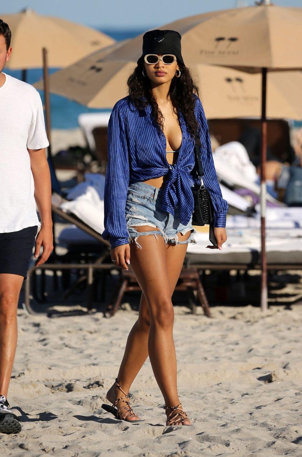SI Model Danielle Herrington Hits the Beach with Jasmine Sanders in Miami (44 Photos)