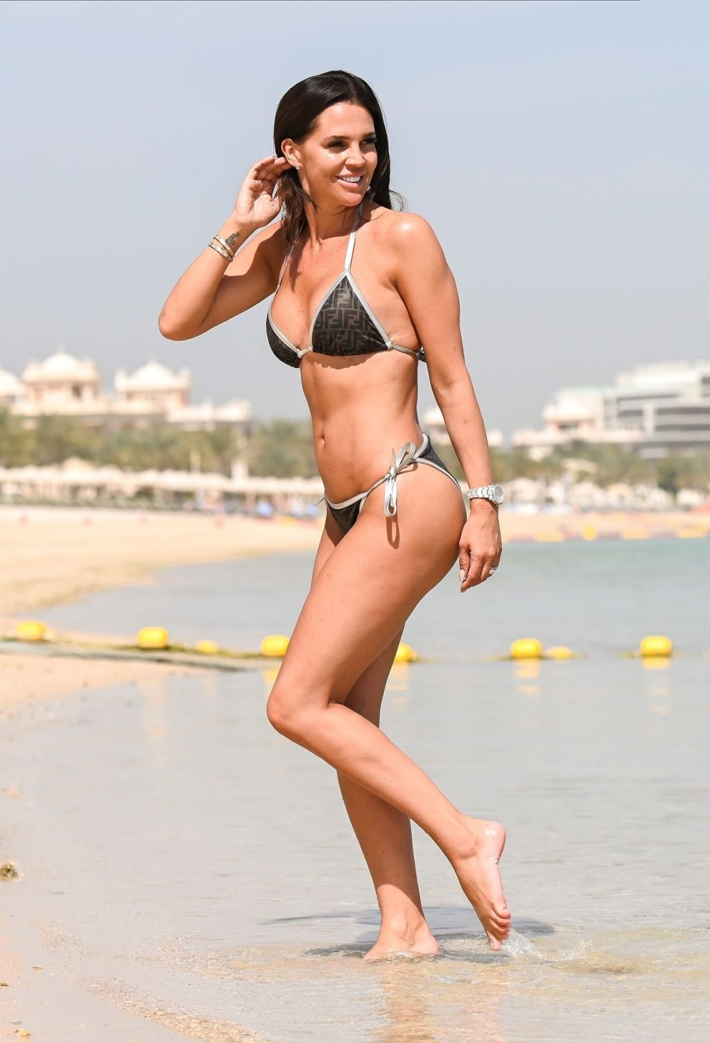 Danielle Lloyd Takes a Shower as She Cools Down From a Dip in the Sea on Holiday (34 Photos)