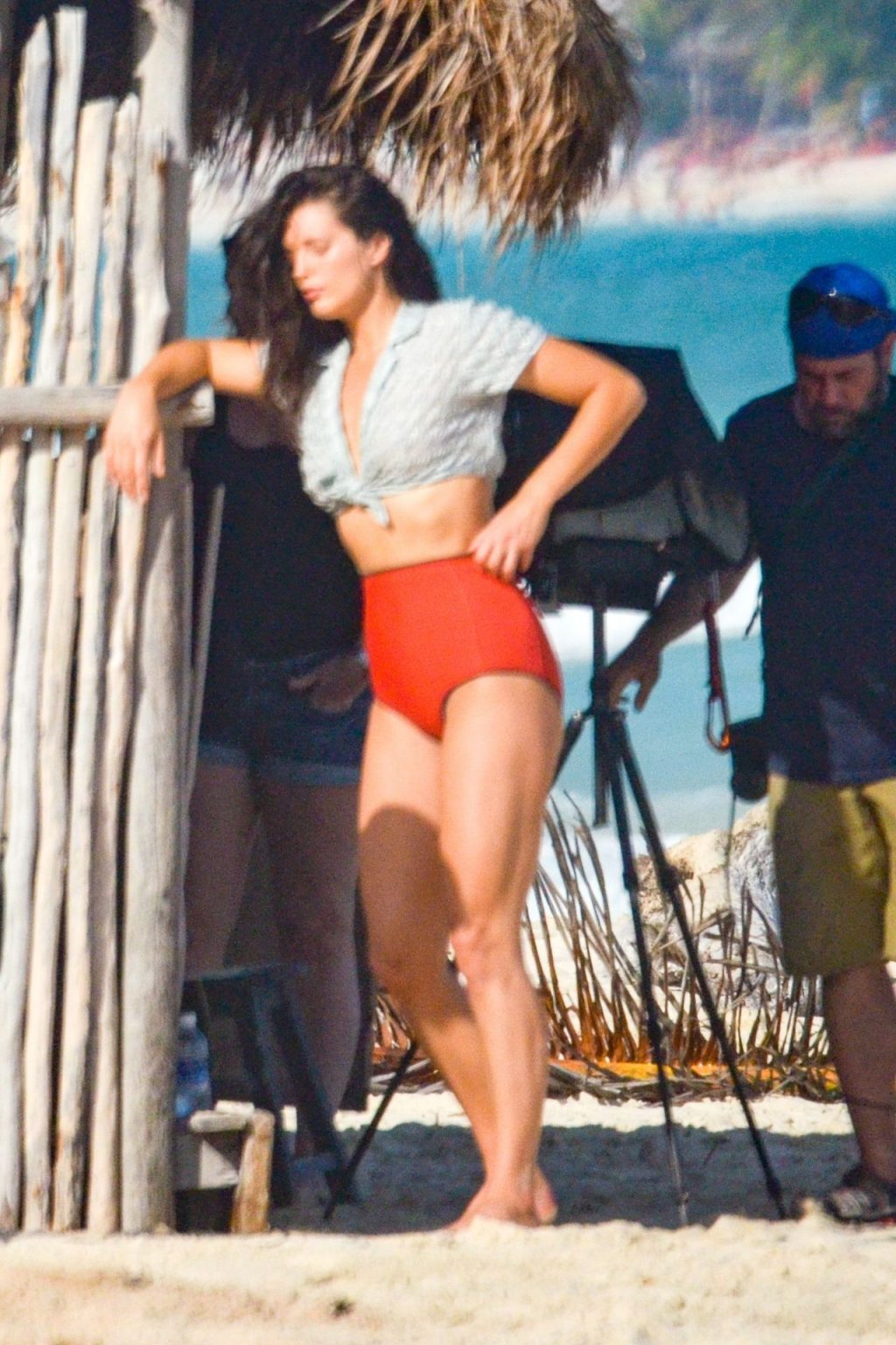 Emily DiDonato Goes Topless for a Beachside Shoot in Tulum