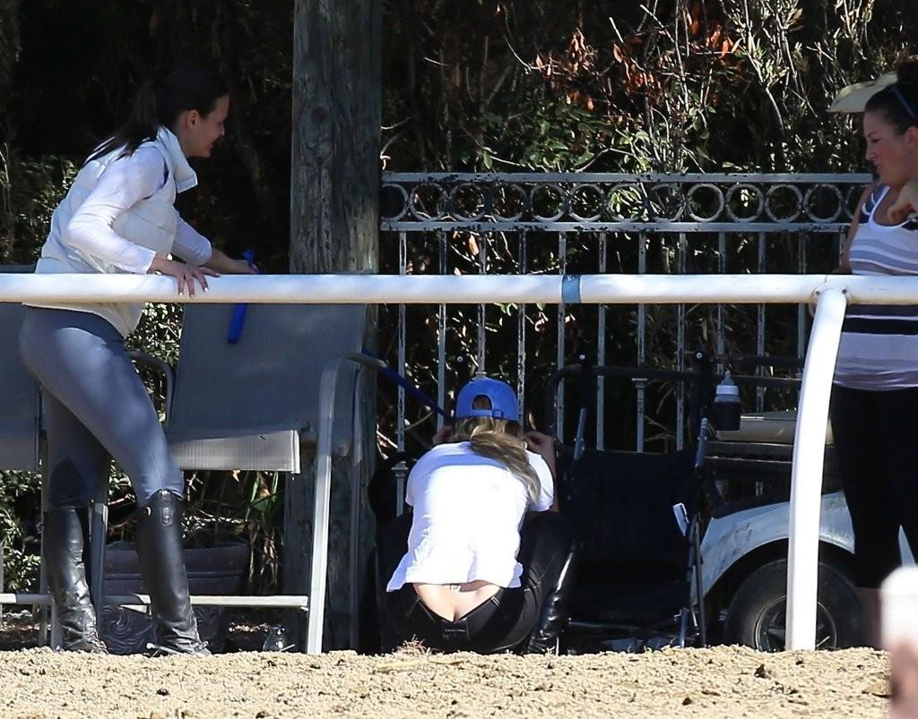 Kaley Cuoco Goes Horseback Riding in Moorpark (3 Photos)