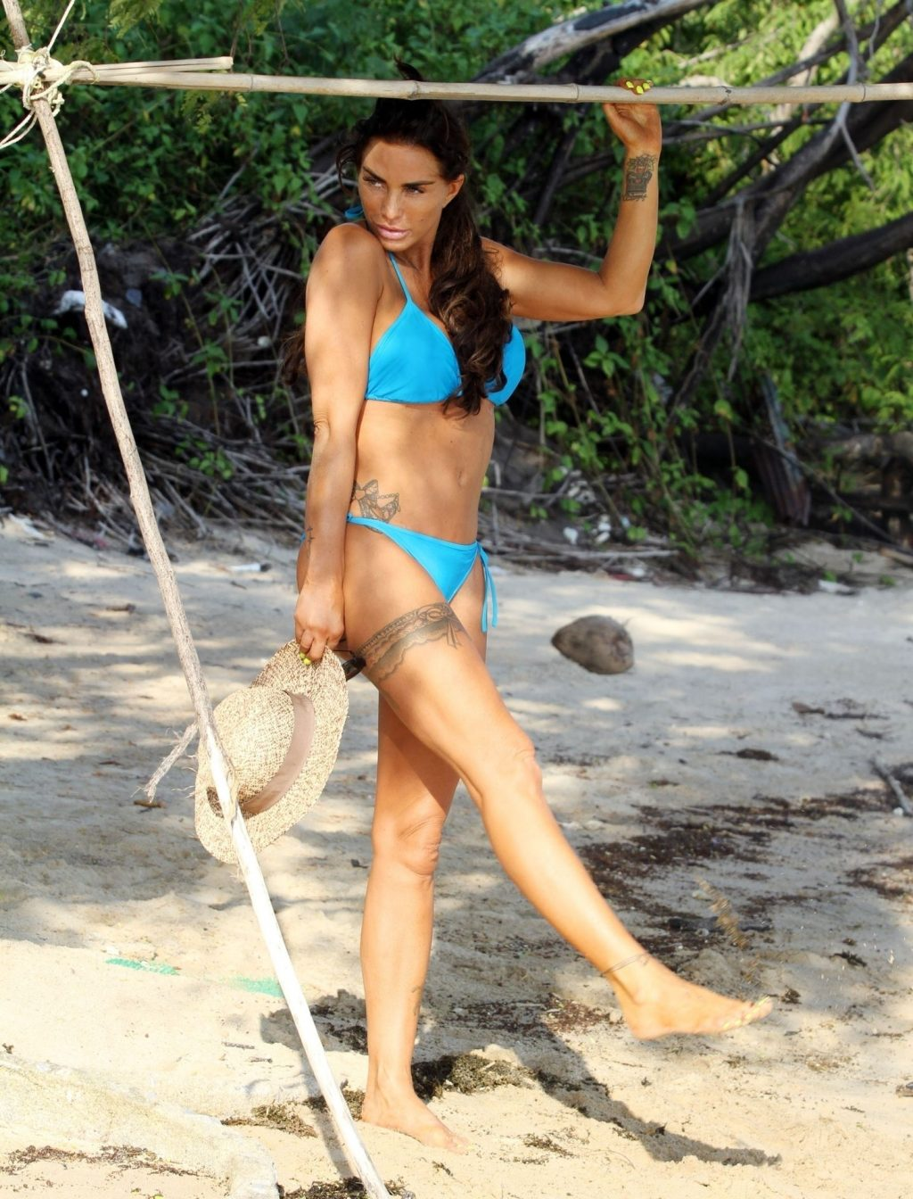 Katie Price Looks Sexy in Her Blue Bikini in Thailand (7 Photos)