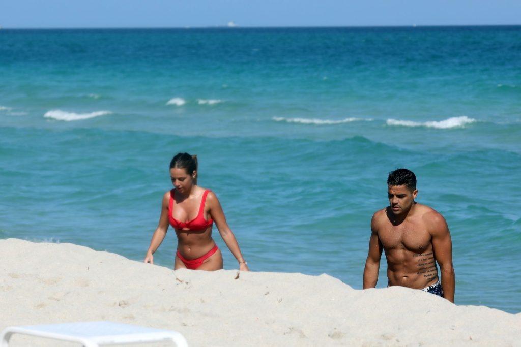Maddy Burciaga Cools Off With Her Boyfriend Alexis Lechanet in Miami Beach (34 Photos + Video)