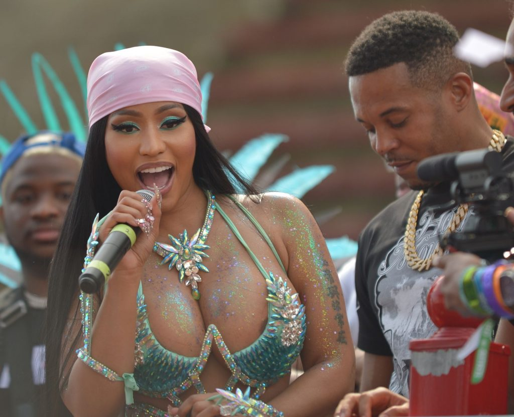 Nicki Minaj Shows Off to the Crowd on Top of a Music Truck at the Socadrome (17 Photos)