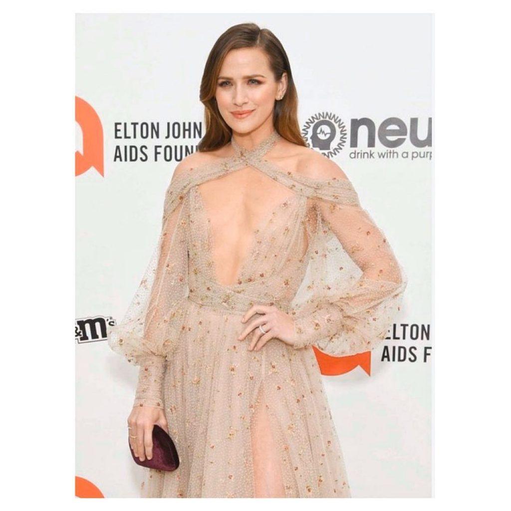 Shantel VanSanten Shows Her See-Through Dress at the Elton John AIDS Foundation Oscar Viewing Party (28 Photos)