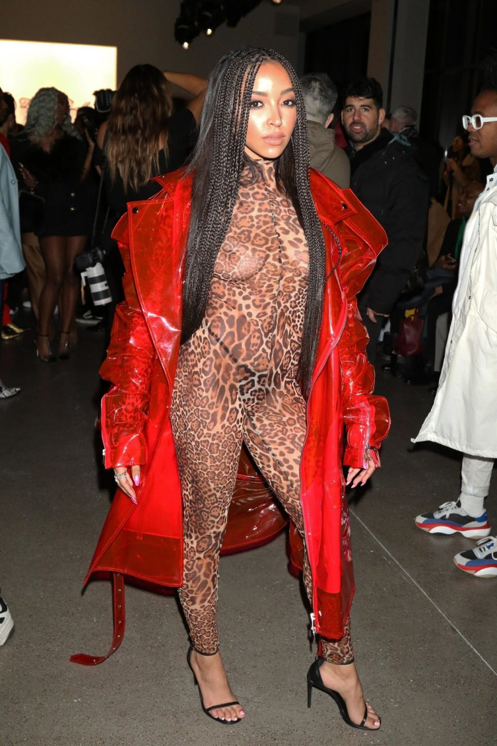 Tinashe Shows Off Her Tits at the NYFW 2020: LaQuan Smith Fashion Show (13 Photos)