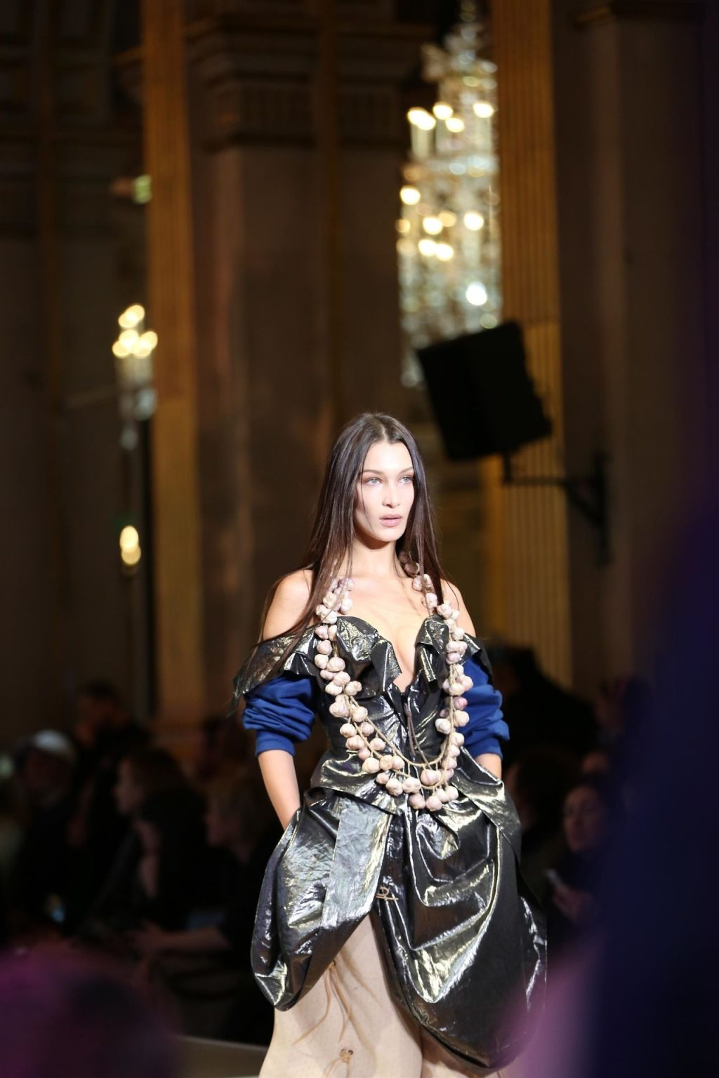 Bella Hadid Shows Her Tits at the Catwalk at Vivienne Westwood Fashion Show (30 Photos)
