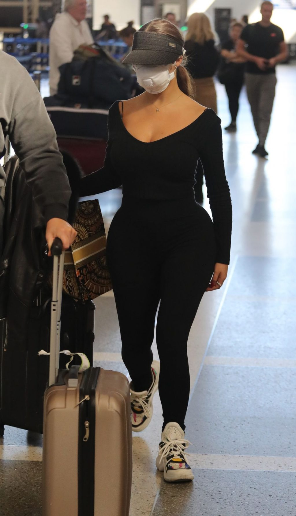 Demi Rose Wears a Face Mask as She Jets Out of Los Angeles International Airport (15 Photos)