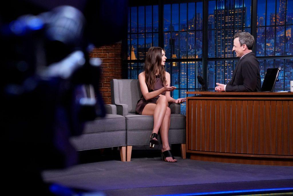 Emily Ratajkowski is a Total Babe in Satin on Her Way to NBC Studios (40 Photos)