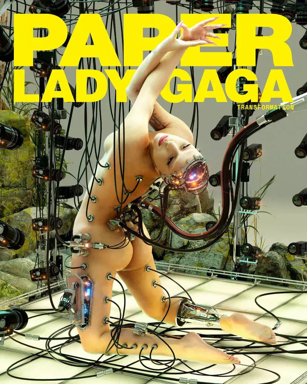 Lady Gaga Displays Her Bare Butt & Tits in a Photoshoot for Paper Magazine (8 Photos + Videos)