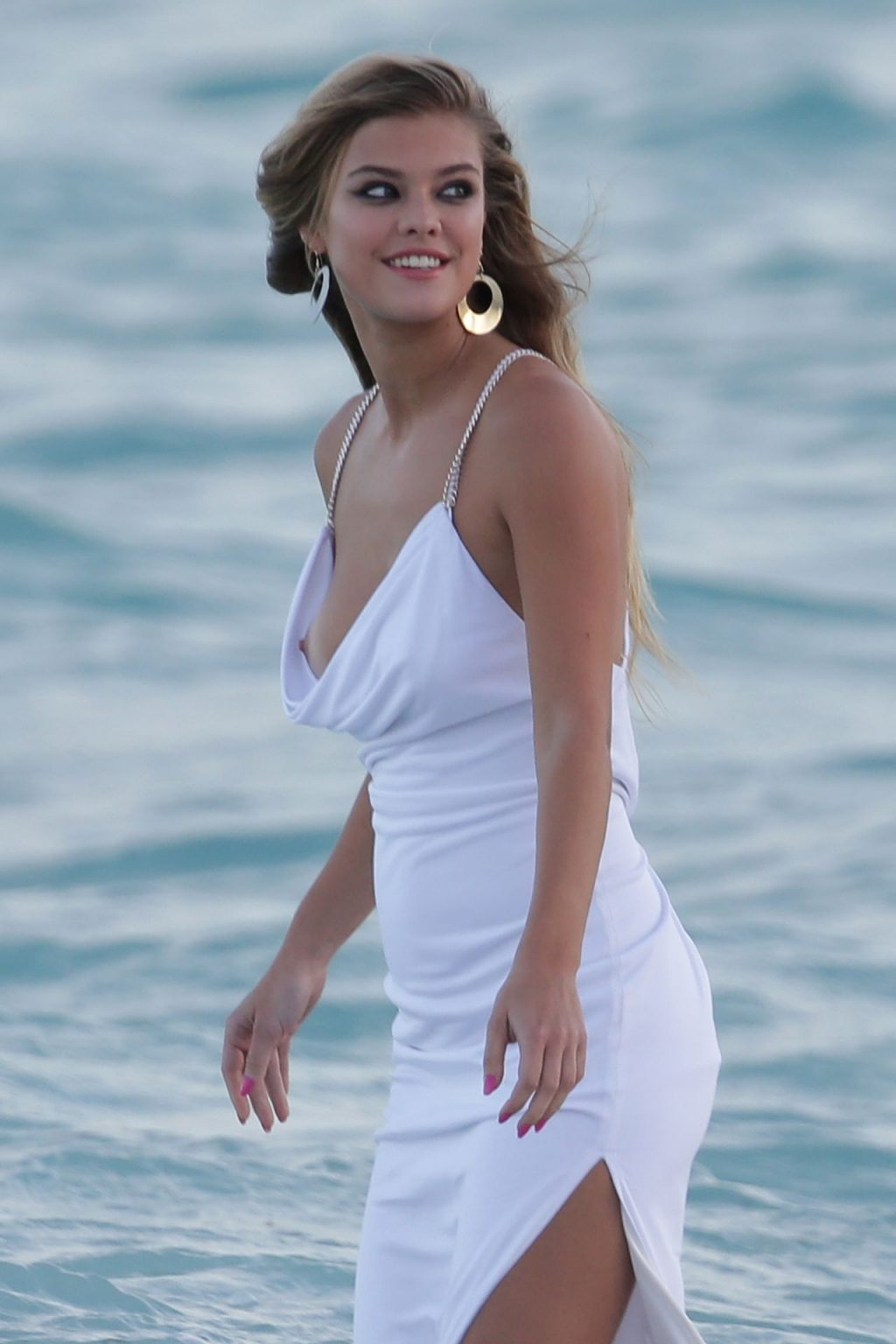 Nina Agdal Has a Couple Wardrobe Malfunctions While Navigating The Surf For a Photoshoot (25 Photos)