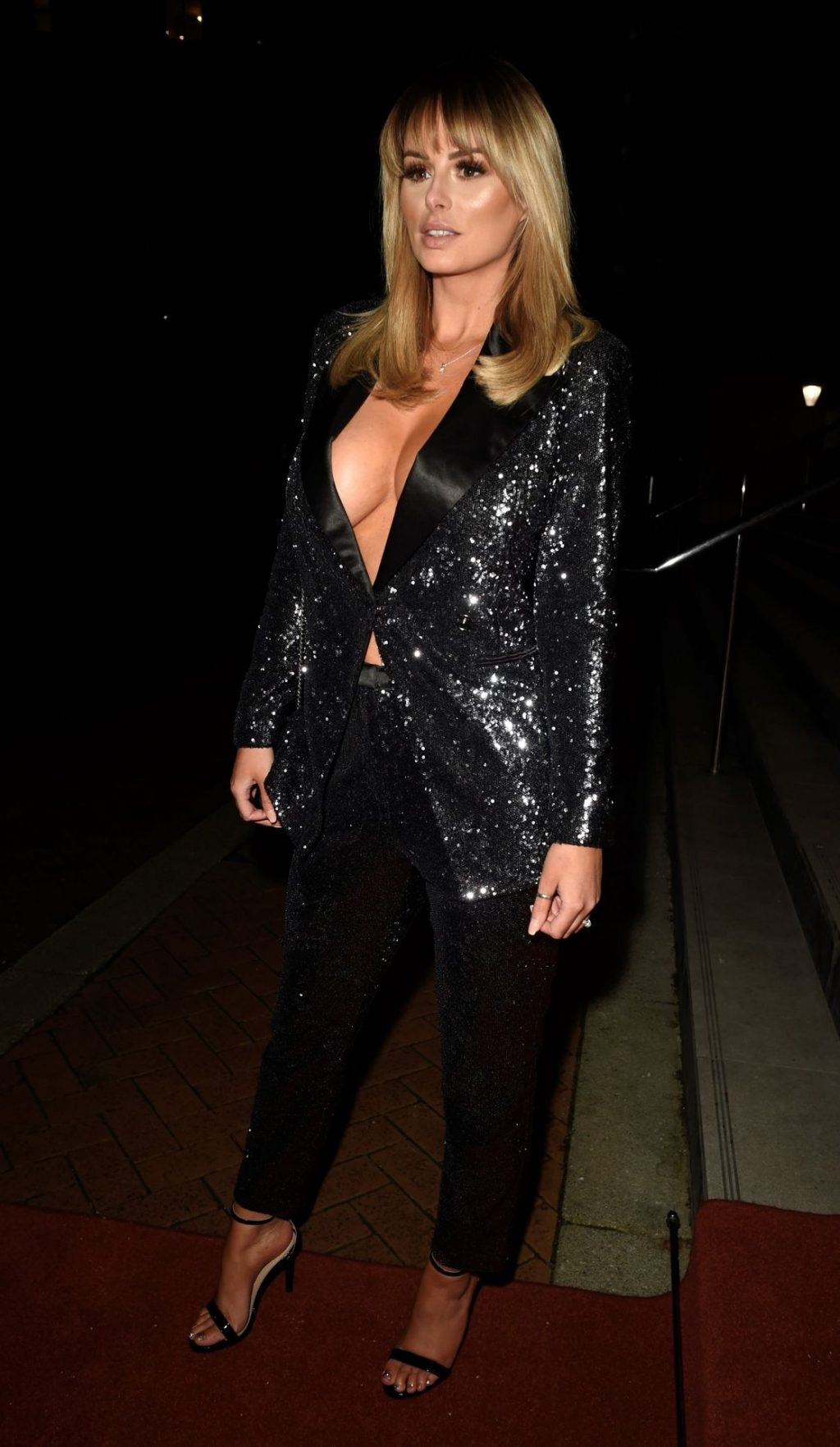 Rhian Sugden Shows Her Cleavage While Arriving at Mirror Ball at The Lowry Hotel (15 Photos)