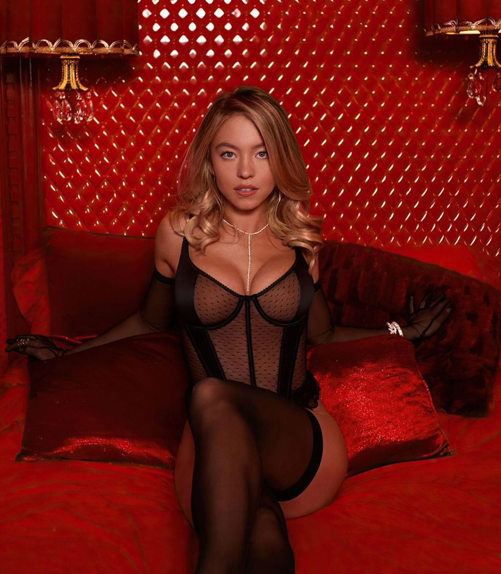 Sydney Sweeney Shows Her Boobs in Sexy Lingerie for Savage X Fenty (9 Photos + GIF)