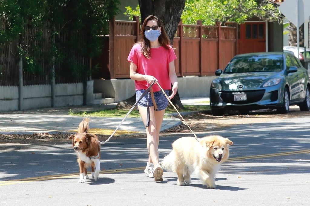 Aubrey Plaza Enjoys Some Fresh Air While Taking Her Dogs For a Walk (19 Photos)