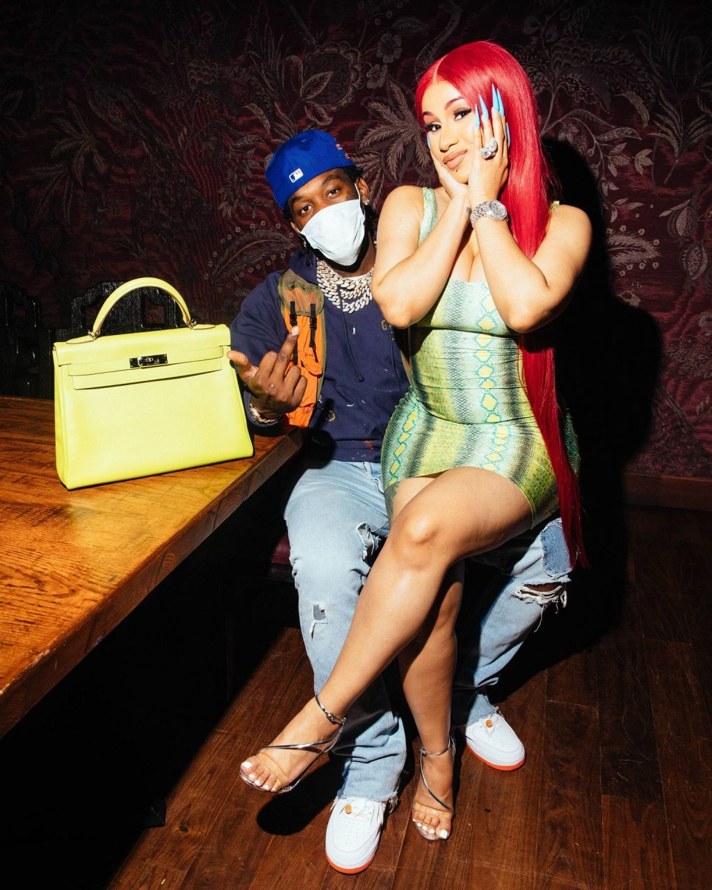 Cardi B Shows Off Her Cleavage and Legs at TAO (10 Photos + Video)