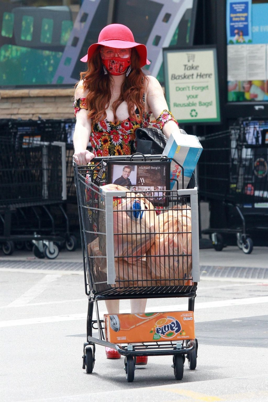 Phoebe Price Sanitizes Outside the Grocery Store (38 Photos)