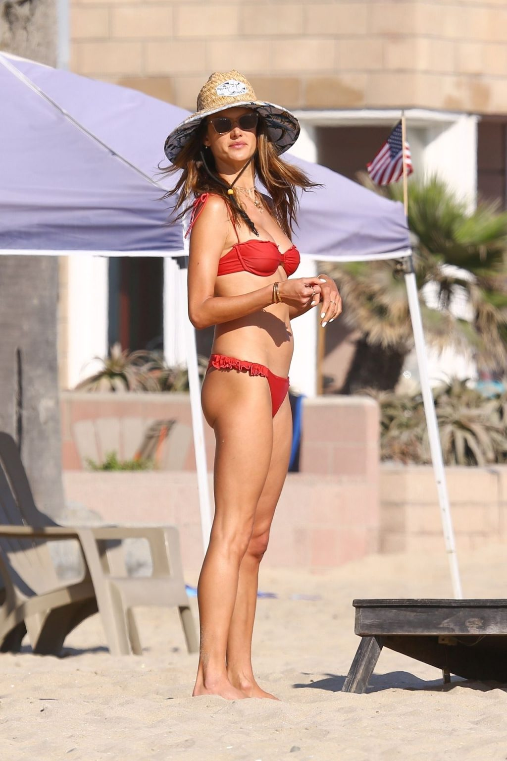 Alessandra Ambrosio Has Fun in the Sun Rocking a Red Bikini (38 Photos)