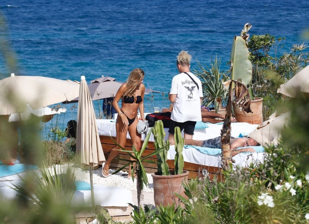 Arabella Chi Puts on Sultry Display Wearing Her Bikini Out on a Shoot in Ibiza (63 Photos)