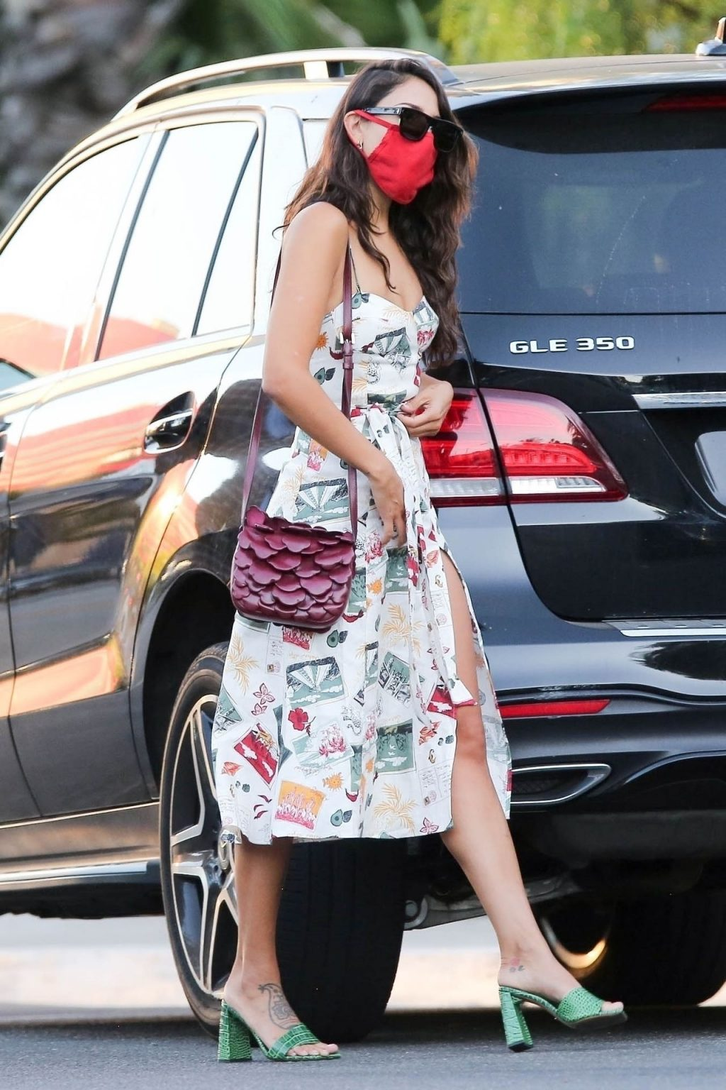 Eiza Gonzalez Stuns in a Colorful Dress While Arriving at San Vicente Bungalows (21 Photos)