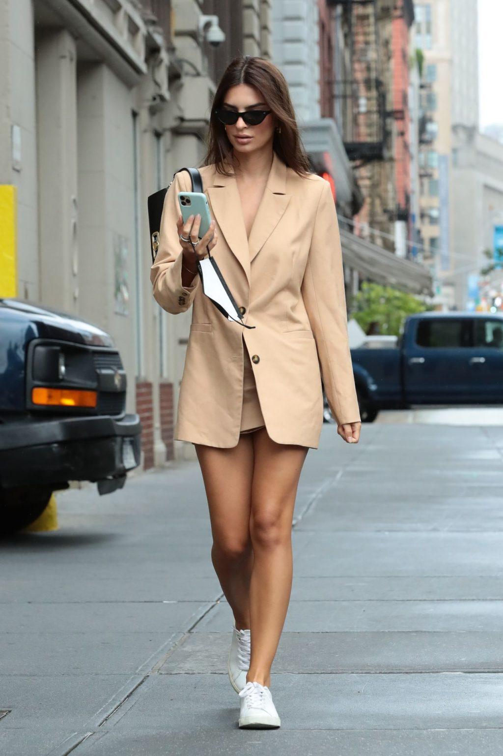 Emily Ratajkowski Looks Stylish While on a Solo Stroll in NYC (65 Photos)