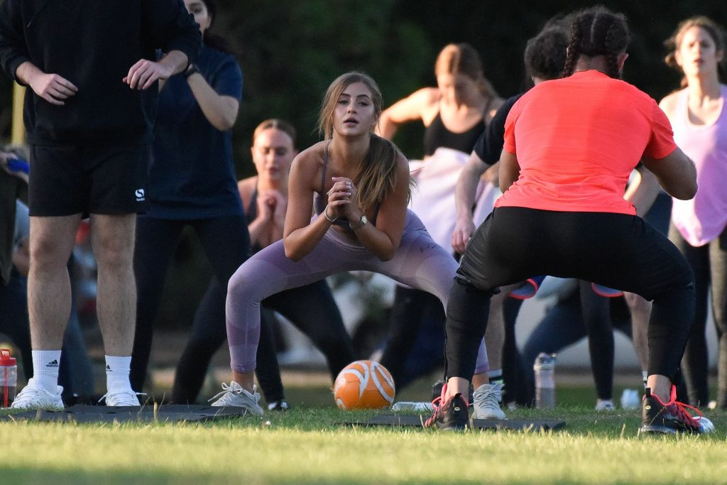 Georgia Steel Is Pictured Working Up a Sweat in One of the Largest Outdoor Fitness Classes in the UK (77 Photos)