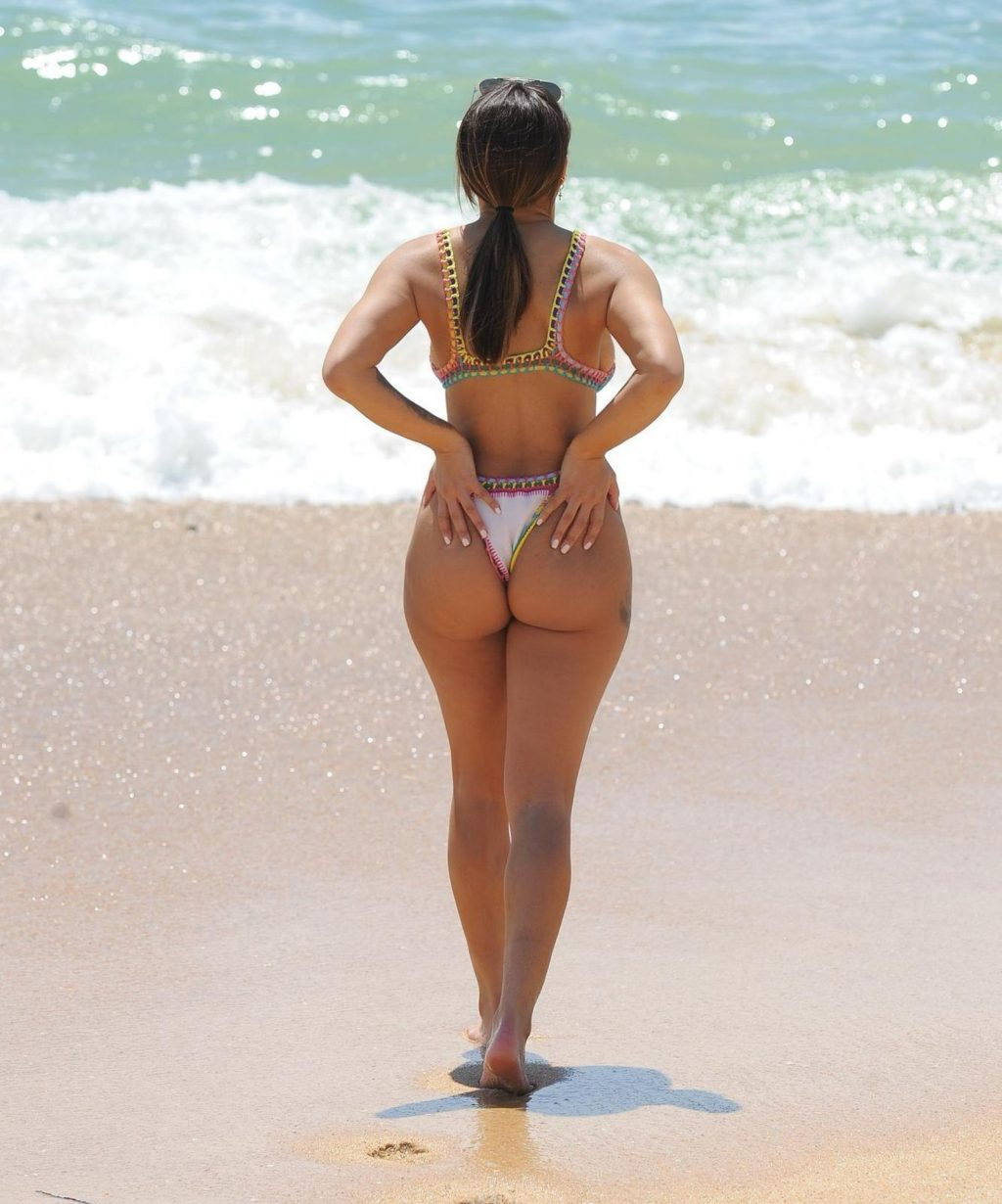 Kayleigh Morris Shows Off Her Sexy Body on the Beach in Spain (20 Photos)