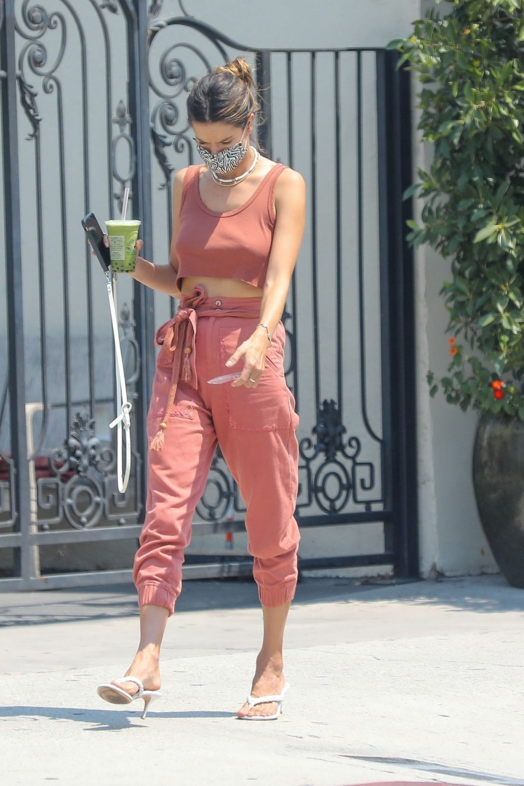 Alessandra Ambrosio Goes Braless while Getting Boba (27 Photos)