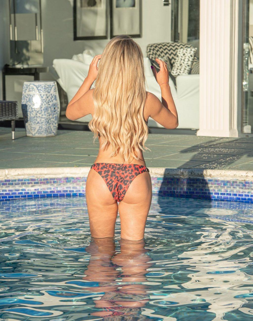 Love Island's Bianca Gascoigne Is Seen Around the Pool on Holiday in Croatia (14 Photos)