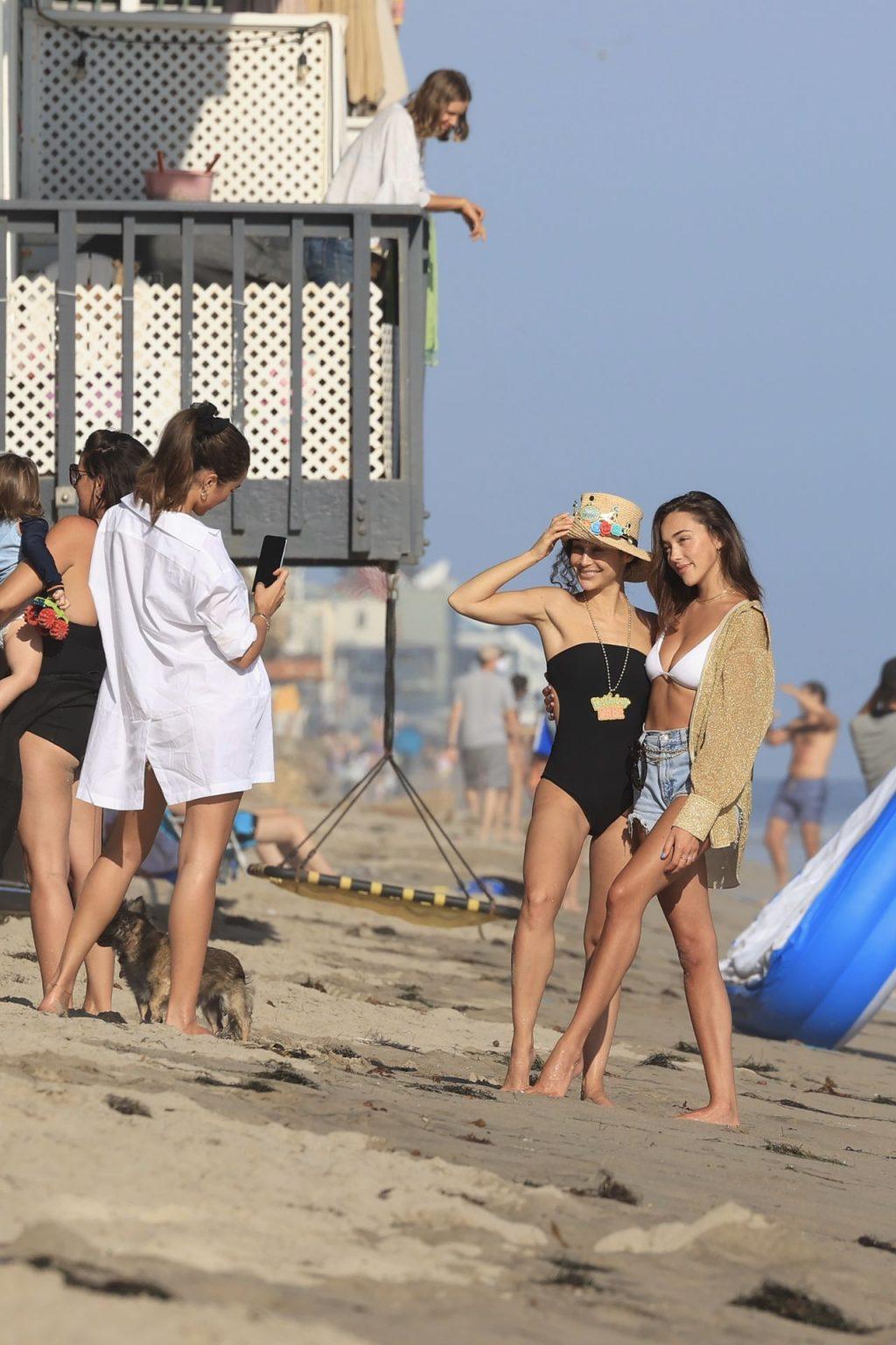 Olivia Culpo Celebrates Cara Santana's Birthday with Her at the Beach (55 Photos)