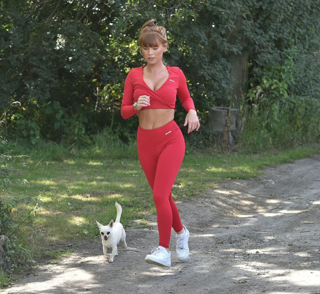 Summer Monteys-Fullam Shows Off Her Assets as She Goes for a Run (17 Photos)