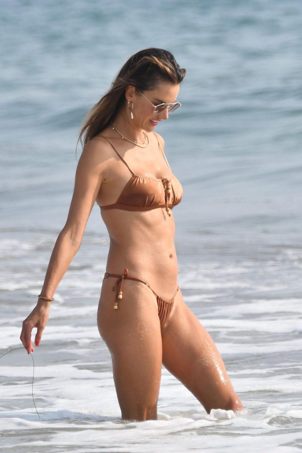 Alessandra Ambrosio Soaks Up the Sun on Santa Monica Beach (49 Photos)