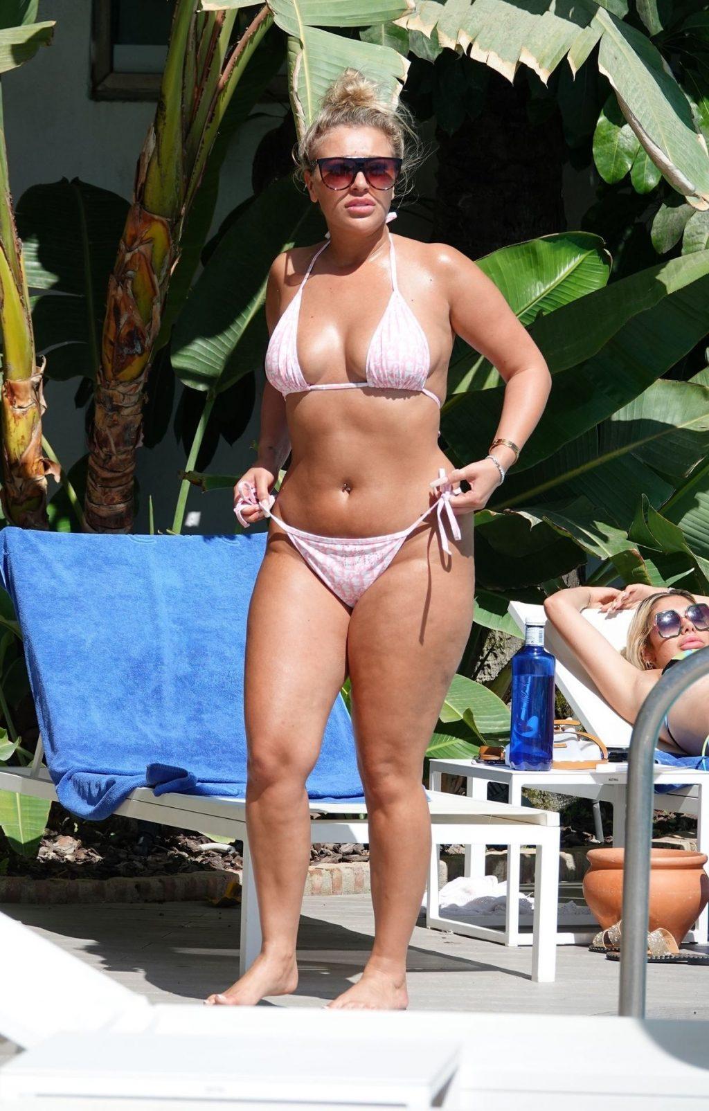 Chloe Ferry & Bethan Kershaw Slap On the Suncream on Holiday in Marbella (51 Photos)