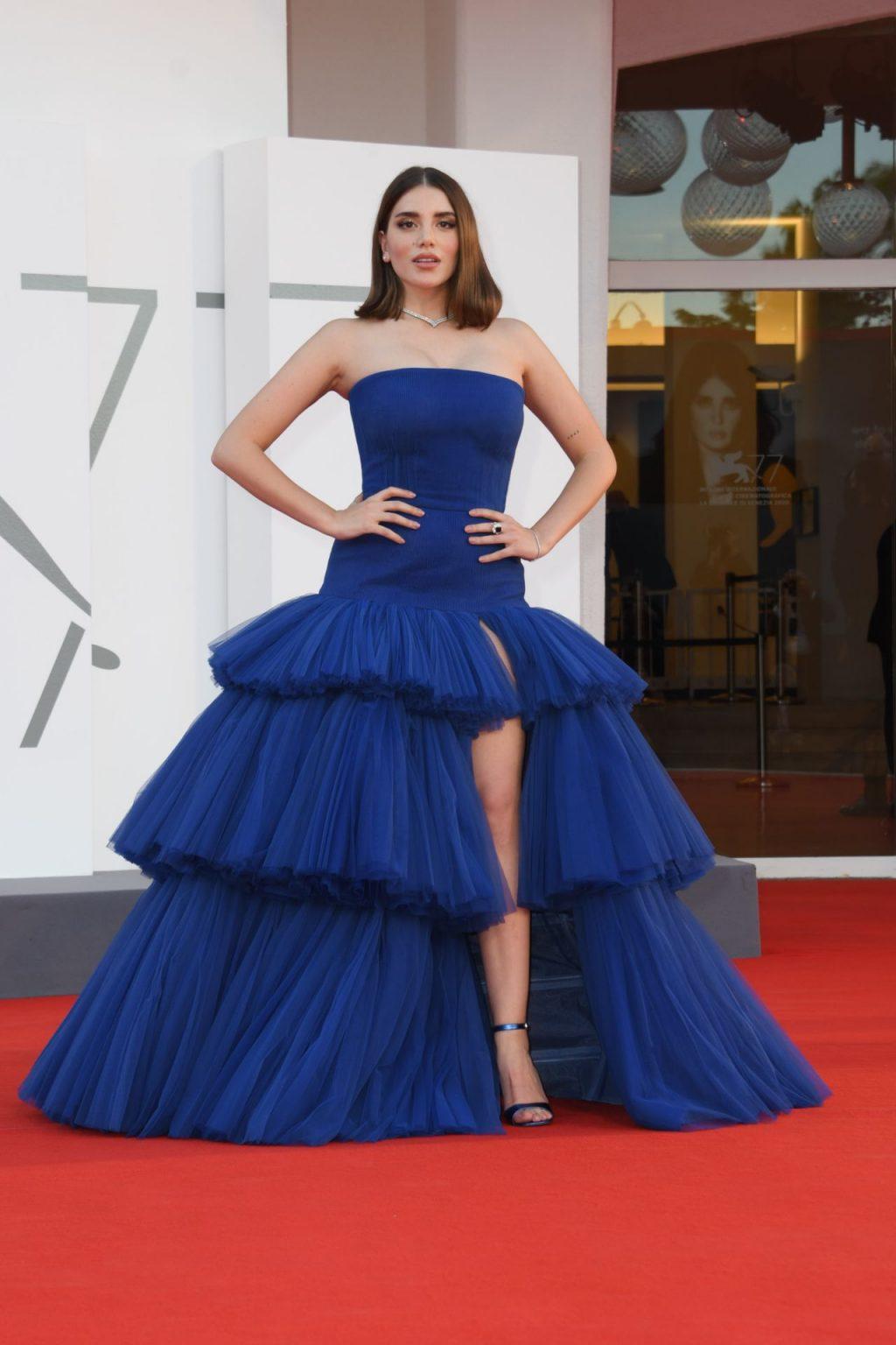 Cynthia Samuel Stuns in a Blue Dress at the 77th Venice Film Festival (20 Photos)