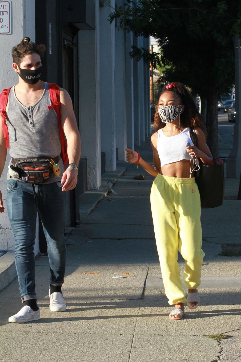 Skai Jackson Walks in With a Matching Postmates Delivery Cart (51 Photos)