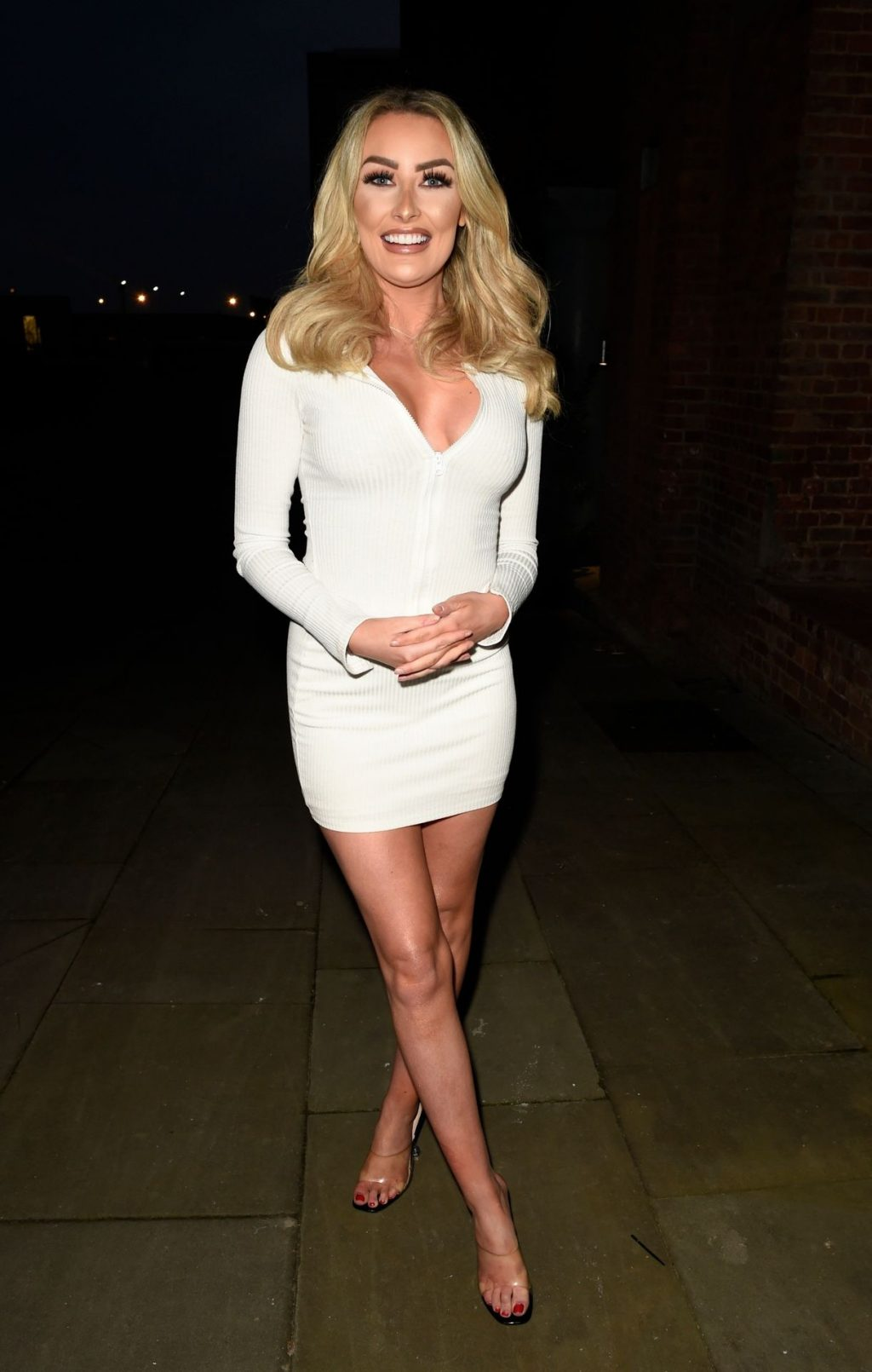 Leggy Chloe Crowhurst is Pictured in Manchester (37 Photos)