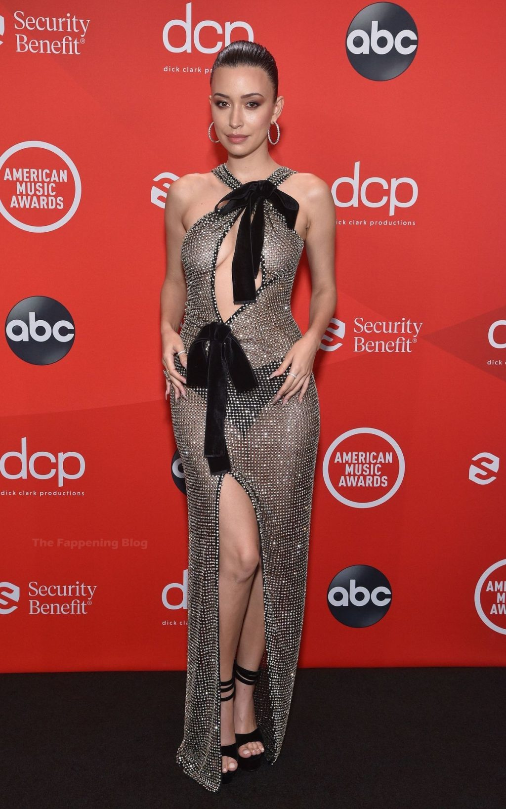 Christian Serratos Displays Her Sexy Figure at the American Music Awards (7 Photos)