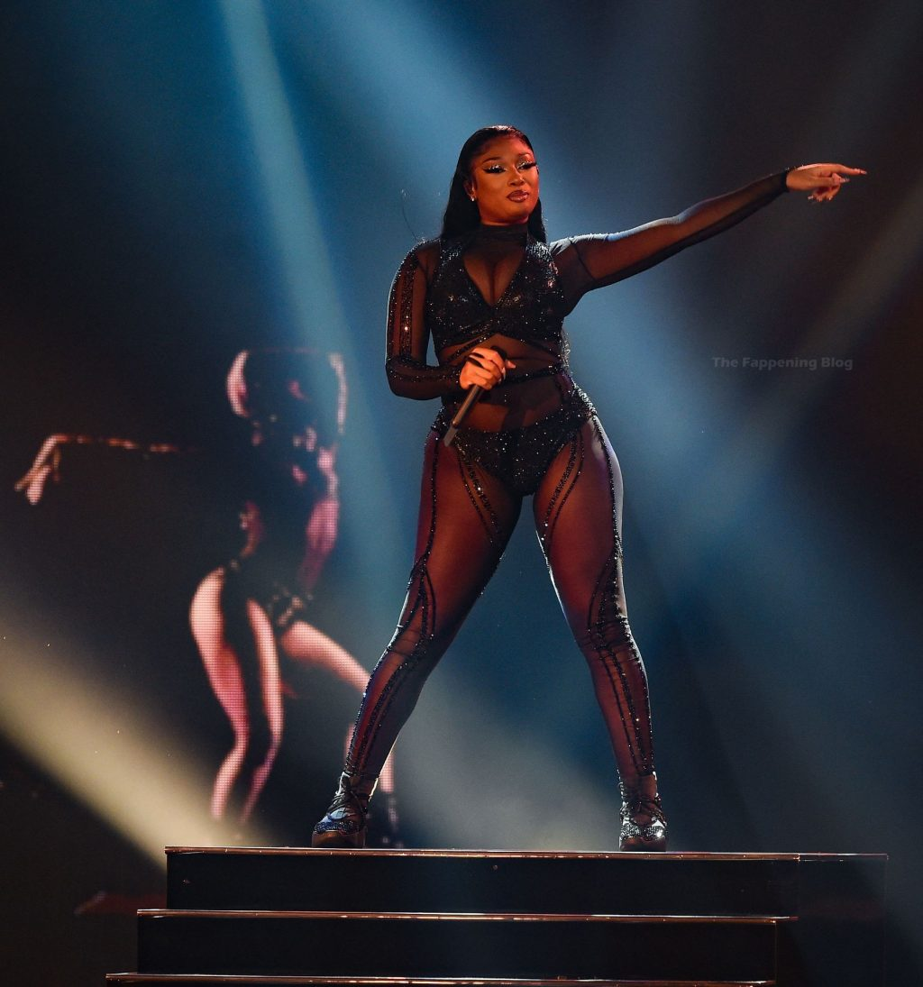 Megan Thee Stallion Shows Off Her Tits at the 2020 American Music Awards (13 Photos)