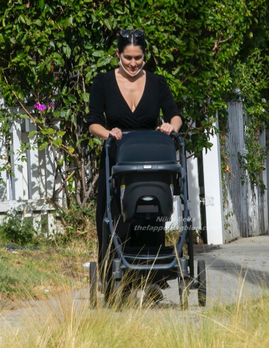 Nikki Bella & Artem Chigvintsev Take Son Out for a Walk (32 Photos)