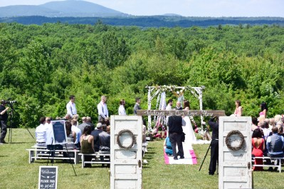 Mountain views at The Farm - Rustic Country Wedding
