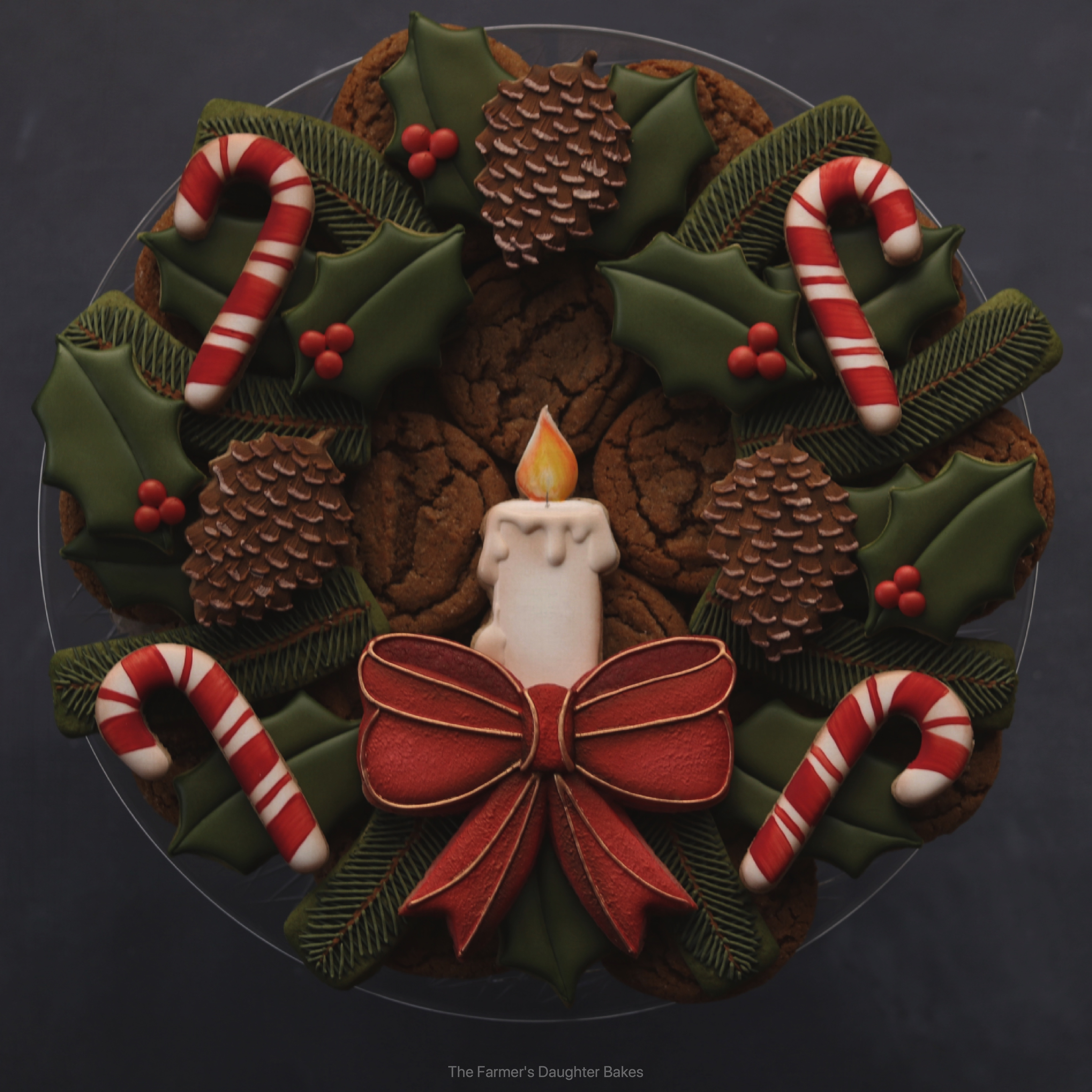 cookies, cookie wreath, Christmas cookies, Christmas, cookie, wreath
