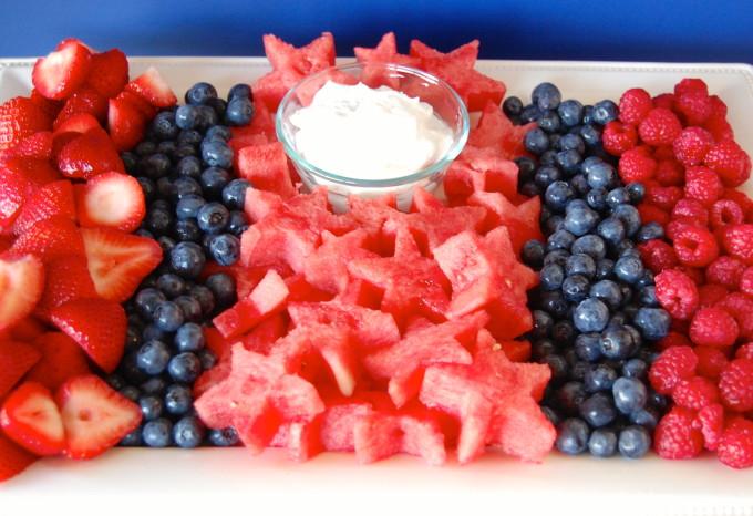 Patriotic Fruit Tray